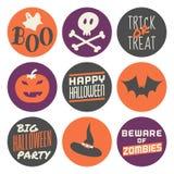 Halloween-Aufkleber eingestellt Lizenzfreies Stockfoto