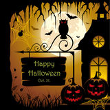 Halloween-Auslegung Lizenzfreies Stockfoto