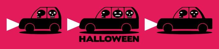 Halloween-auto's Stock Afbeelding