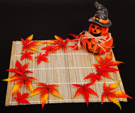 Halloween autumn decoration stock image