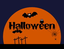 Halloween avec des animaux, illustration orange Photographie stock