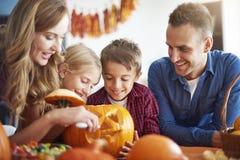 Halloween avec la famille Image stock