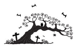 Halloween-Bäume Lizenzfreies Stockbild