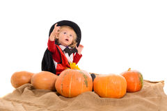 Halloween baby boy Royalty Free Stock Images