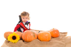 Halloween baby boy Royalty Free Stock Photo