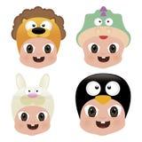 Halloween Baby Masks Stock Photo