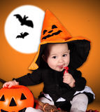 Halloween baby Royalty Free Stock Photo