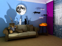 Halloween babyroom (childroom) royalty-vrije stock foto