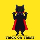 Halloween back cat Stock Photos
