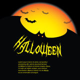 Halloween Backdrop. Cool Halloween Background with Bats Royalty Free Stock Images