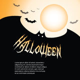 Halloween Backdrop. Cool Halloween Background with Bats Stock Images