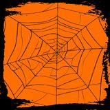 Halloween backdrop with creepy cobweb. Halloween party backdrop with creepy cobweb. Realistic design element for scary holiday poster decoration. Abstract spider Royalty Free Stock Photography