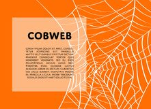 Halloween backdrop with creepy cobweb. And space for text. Realistic design element for scary holiday poster decoration. Abstract spider cobweb silhouette on Royalty Free Stock Image