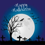 Halloween backgound whit tree Stock Photography