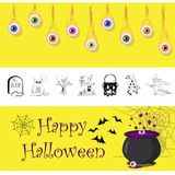Halloween_background Stock de ilustración