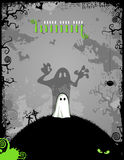Halloween background. Halloween party invitation or background with cute little ghost Royalty Free Stock Photography