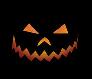 Halloween background. Halloween pumpkin on black background royalty free illustration