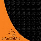Halloween background. No gradients used, layered and grouped illustration for easy editing Royalty Free Stock Image