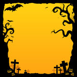 Halloween Background. Illustration of a halloween background template Stock Image