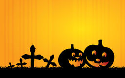Halloween Background. Cool Halloween Background with Pumpkins Stock Photos