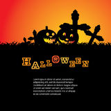 Halloween Background. Cool Halloween Background with Pumpkins Stock Images