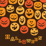 Halloween Background. Cool Halloween Background with Pumpkins Stock Photo