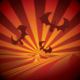 Halloween background. With flying bats Stock Photography
