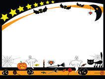 Halloween background. Frame with halloween elements Stock Photography