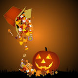 Halloween background. With candys vector illustration Royalty Free Stock Photos