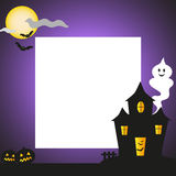 Halloween background. A frame with halloween scene. You can use the white copy space for photo or to write informations and greetings. Vector Stock Photo