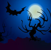 Halloween  background. With bat Royalty Free Stock Photo