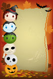 Halloween background. A vector illustration of Halloween background with copyspace Stock Images