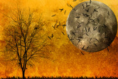 Halloween background. And dead trees Royalty Free Stock Images