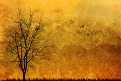 Halloween background. And dead trees Stock Photo