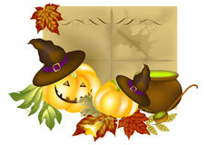 Halloween background. Autumn vector  afraid Halloween background Royalty Free Stock Photos
