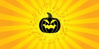 Halloween background. Abstract halloween background with pumpkin vector illustration Royalty Free Stock Photo