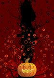 Halloween background. Abstract halloween background with pumpkin vector illustration Stock Photo