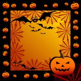 Halloween background. With web, illustration Royalty Free Stock Photos