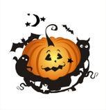 Halloween background. Computer generated halloween background with pumpkin Stock Image