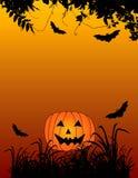 Halloween Background. Halloween themed background with jack-o-lantern Royalty Free Stock Photos
