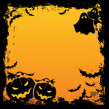 Halloween background. With two pumpkins Royalty Free Stock Photo