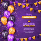 Halloween Background with Balloons and Flag Royalty Free Stock Photography