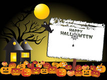 Halloween background with banner Royalty Free Stock Image