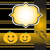 Halloween background with banner vector Royalty Free Stock Photos