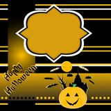 Halloween background with banner vector Royalty Free Stock Photo