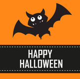 Halloween background with bat Royalty Free Stock Images