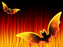 Halloween Background with Bats Royalty Free Stock Images