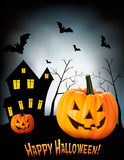 Halloween background with bats. Stock Photography