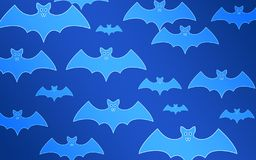 Bats on a blue background. Halloween vector illustration