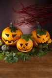 Halloween background with bats, bright colorful vivid theme Royalty Free Stock Photos